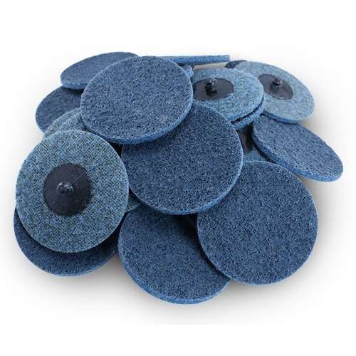 3'' Black Hawk Blue Surface Conditioning Quick Change Discs Fine Prep Pad - 25 Pack by Black Hawk