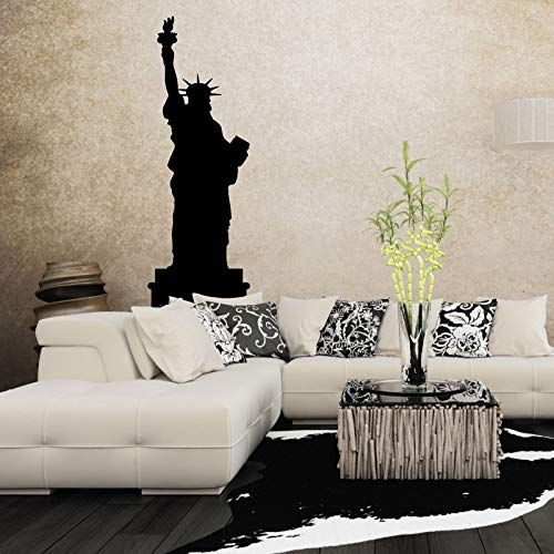 N.SunForest Lady Liberty Sillouette Vinyl Wall Decal Home Decor