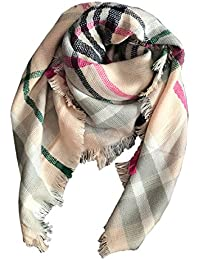 Kids Girls Boys Stylish Grid Warm Blanket Scarf Gorgeous...