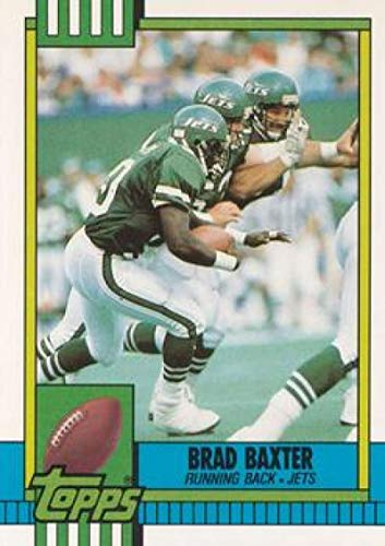1990 Topps Traded #64T Brad Baxter NY Jets NFL Football Card (RC - Rookie Card) - Card Nfl 1990 Topps