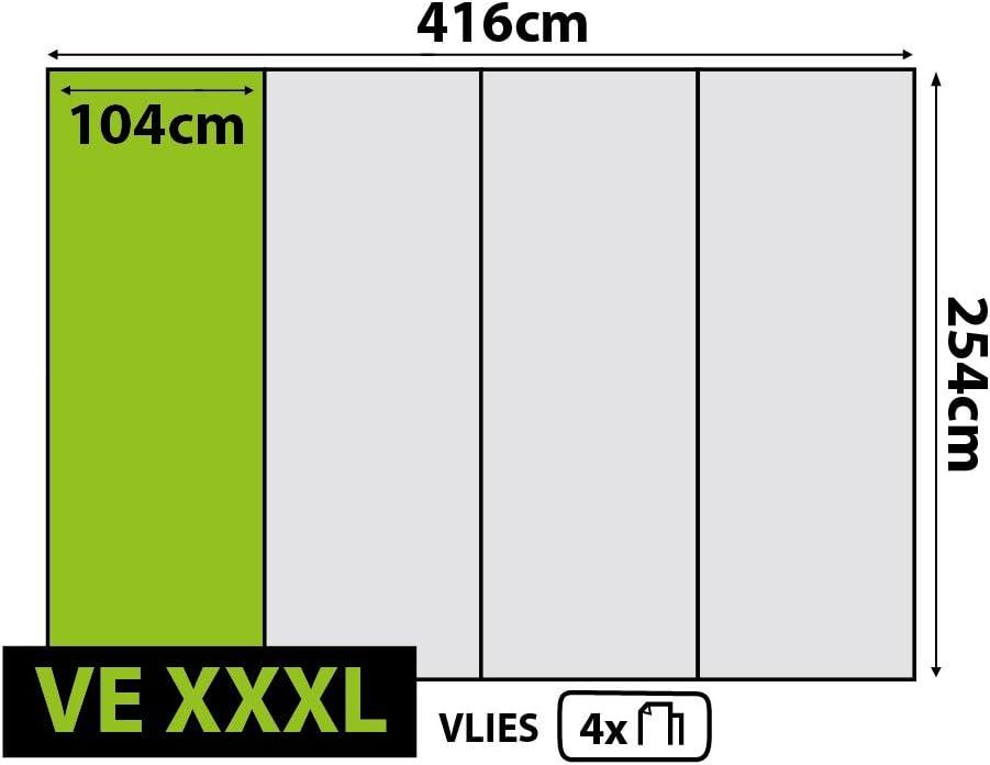 4 parties multicolore Olimpia Design 323VEXXL Papier peint photo Motif terrain de football 3 x 4,15 x 2,54 m