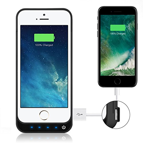 iPhone 5/5S/5C/SE Battery Case iPosible 4500mAh External Rechargeable Charger Case for iPhone 5/5S/5C/SE Charging Case Power Bank Battery Pack [24 Month Warranty] by iPosible (Image #5)