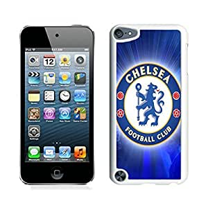 iPod Touch 5 Case ,Unique And Fashionable Designed Case With Chelsea FC Logo Football White For iPod Touch 5 Phone Case