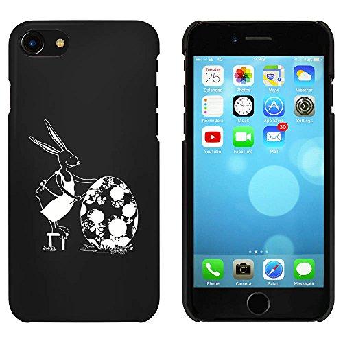 Noir 'Oeuf Peinture Lapin' étui / housse pour iPhone 7 (MC00061701)