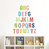 Decowall DA-1701A Uppercase Alphabet Letter Peel and Stick Nursery Wall Decals Stickers
