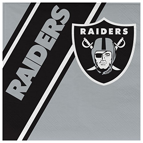 NFL Oakland Raiders Disposable Paper Napkins, Pack of 20