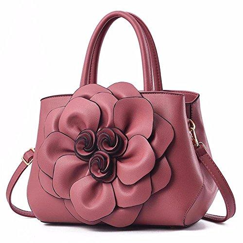 Doux Main Fleur de tridimensionnel Sac Sac à Gros élégant Visage à rose l'épaule Mesdames GQFGYYL Sac qvfBBR