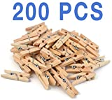 Arts & Crafts : Mini, Natural Clothespins Craft Boutique, Wood, 200 Per Pack, Wooden Pins for Scrapbooking Wood Crafts