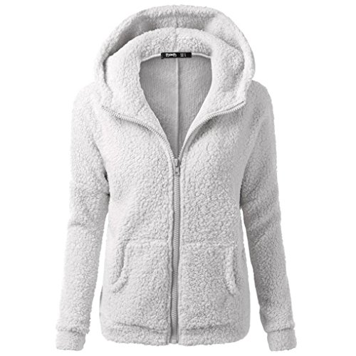 Jackets Outwear Women Zipper Hooded Muium Sweater Light Coat Ladies Gray Cotton Warm Winter Wool aAwnRq60