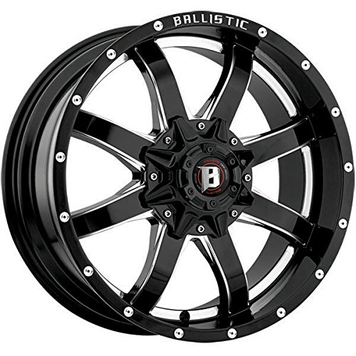 "20"" Inch Ballistic 955 Anvil 20x9 6x139.7  +15mm Black/Mille"