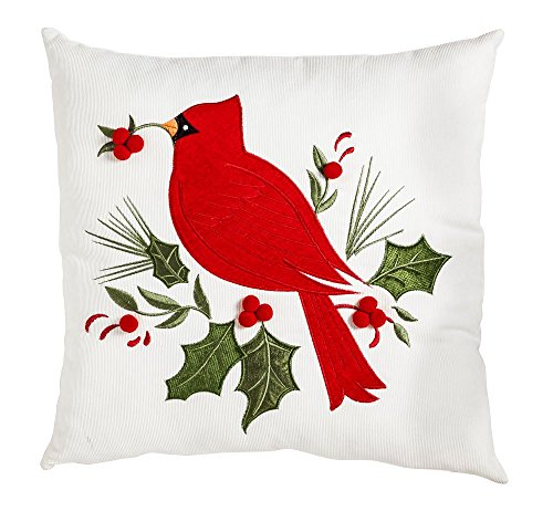 Outdoor Holiday Pillow (New Creative Holiday Cardinal 18 inch Outdoor Safe Pillow)