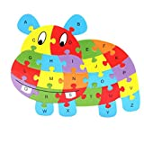 Cute Cartoon Pattern Design Wooden Alphabet Puzzle Toy for Toddlers and Kids,Preschool Early