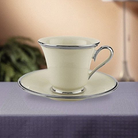 Lenox Solitaire Cups & Saucers (Dinnerware Solitaire Fine)