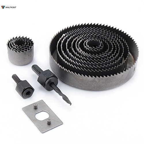 Drill Uses - 16pcs Hole Cutting Set Kit Drilling Tool Wood Metal Cutter 127mm Mandrel Saw Core Bit Woodworking Combination - System Electric Hollow Exercise Maw Kettle Fish Bore by Menistor