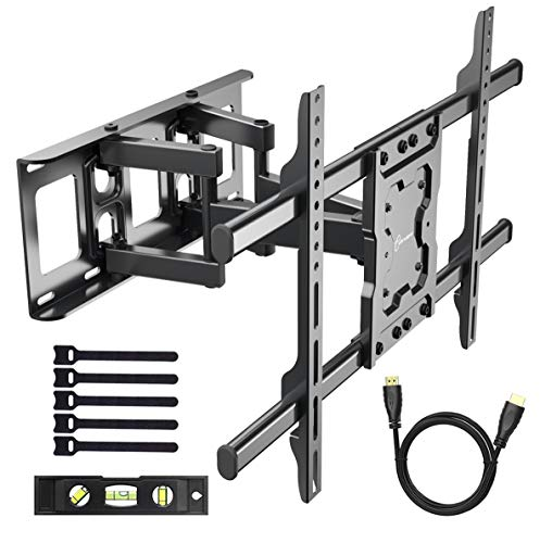 - EVERVIEW TV Wall Mount Bracket fits to most 37-70 inch LED,LCD,OLED Flat Panel TVs, Tilt Full motion Swivel Dual Articulating Arms, bring perfect viewing angle, Max VESA 600X400, 132lbs Loading
