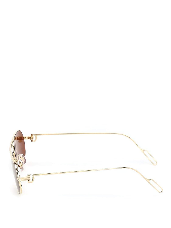 Cartier CT0112S003 - Gafas de sol para hombre, color dorado ...