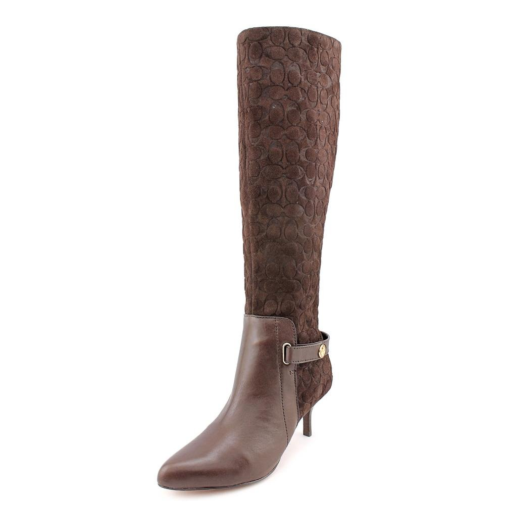 43ff9ebb86a Coach Fara Embossed Suede & Leather Dress Boots, Style A4208: Amazon ...
