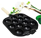 Personal Size Traditional Cast Iron Japanese Takoyaki And Dessert Cake Cooking Pan