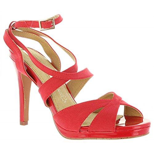 Zapatos rojos de punta abierta formales MARIA MARE para mujer FGFwfV