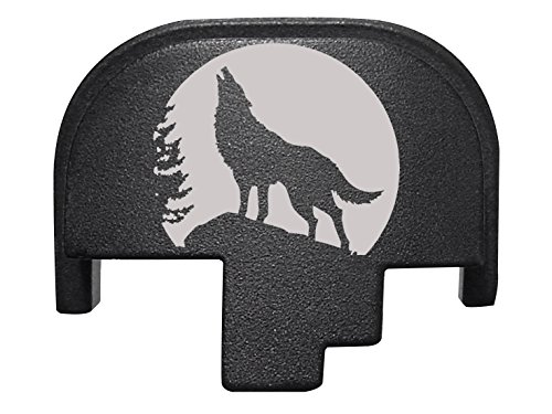 For Smith Wesson S&W M&P 9 40 45 Rear Slide Back Plate Black Wolf Moon