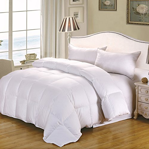 Cozyfeather Real Goose Down Comforter Duvet Cal King