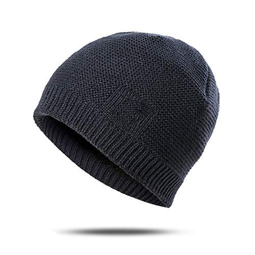 tting Beanies Hats Hip-Hop Cap Ring Scarf Thick Warm Skullies Beanie,B1 ()