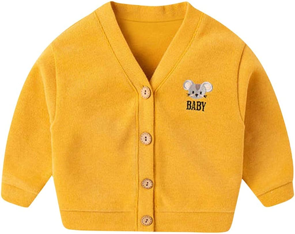 Girls Cardigan Spring Kids Long Sleeve Knitted Jumpers Cardigans Age 2-12 Years