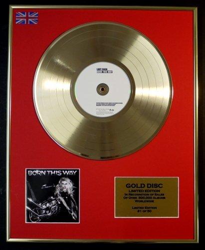 LADY GAGA Goldene Schallplatte Record Limitierte Edition BORN THIS WAY
