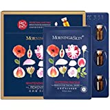 [Morning Skin] Rose Whitening Freckle DEL Moisturizing Facial Skincare 6 Pack Set - Rose Masks 25 ml x 6 Pieces w/Essence 1.5 ml x 6 Vials, 🌹Rose Picked in Morning from Damascus Bulgaria