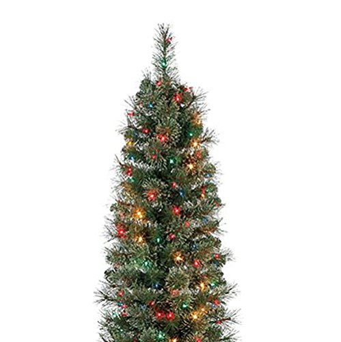 Home Heritage Stanley 7' Artificial Pine Christmas Tree w/Multicolored Lights