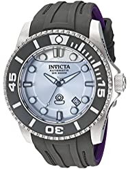 Invicta Mens Pro Diver Automatic Stainless Steel and Silicone Diving Watch, Color:Grey (Model: 22991)