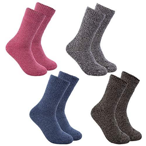 Polar Extreme (2 Pairs) Warm Thermal Socks Women, Fuzzy Socks, Cozy Crew Socks