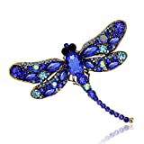 Meolin Rhinestone Brooch Pin Women Jewelry Wedding Bouquet Brooch ,blue,9.17.5cm