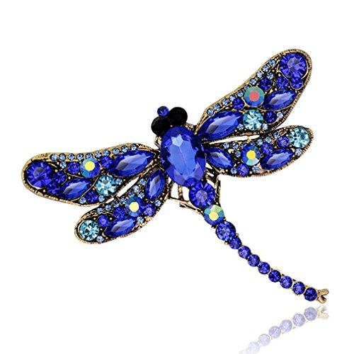 Meolin Rhinestone Brooch Pin Women Jewelry Wedding Bouquet Brooch ,blue,9.17.5cm