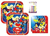 Lobyn Value Pack DC Super Hero Girls Party Plates