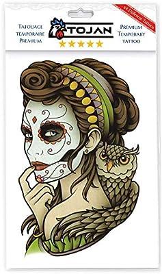 Tojan Tatuaje Temporal Santa Muerte en Lote de 4 Tablones de ...
