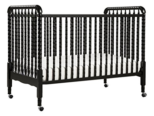 DaVinci Jenny Lind 3-in-1 Convertible Portable Crib in Ebony - 4 Adjustable Mattress Positions, Greenguard Gold