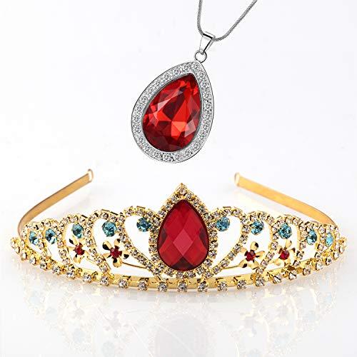 Vinjewelry Elena of Avalor Tiara Necklace Teardrop