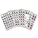 Large Print Scrabble Tile Overlays - Black on White