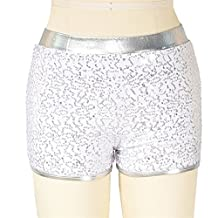 MiDee Sequins Pole Dance Shorts Hot Jazz Dance Costumes Ballroom Dance