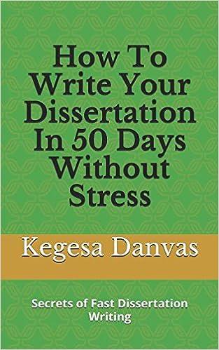 Dissertation stress digital dissertation