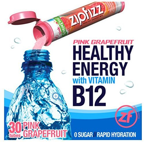 Zipfizz Healthy Energy Drink Mix, Pink Grapefruit, Pack of 30