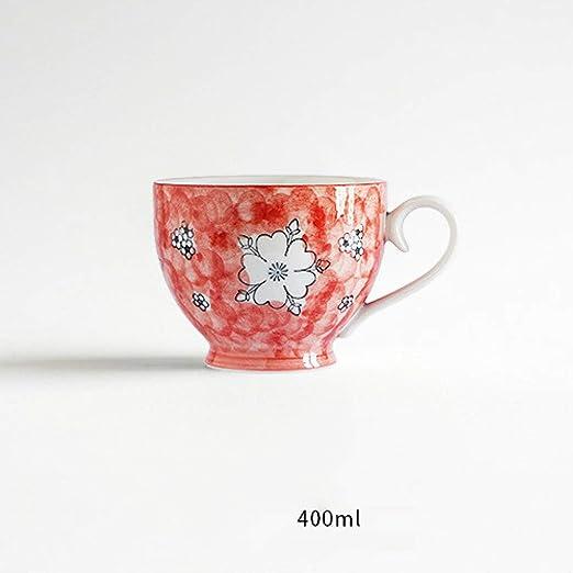 qwdf Taza de Desayuno de Alta Temperatura Color de cerámica ...