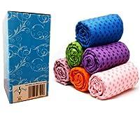 "AngelBeauty© Microfiber Non Skid Yoga Towel with Carry Bag (24""X72"", Purple)"