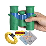 COSTIN Binoculars for Kids | 6×21 Magnification | Compact Scope with Wide & Clear View Field for Travel/Bird Watching/Sporting Events/Children, Kingfisher Blue& Emerald Green Review