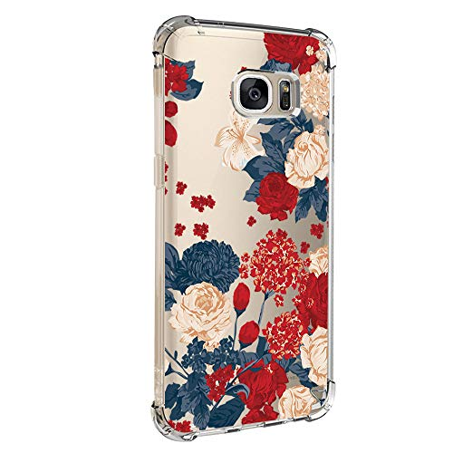 Case Compatible with Galaxy S7/S7 Edge Case Vanki Shockproof Thin Clear Soft TPU Protective Cover (S7 edge, Color4)