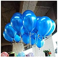 """Mimgo Store 10"""" Pack of 100 Pearl Latex Balloons For Celebration Party Wedding Birthday(Dark Blue)"""