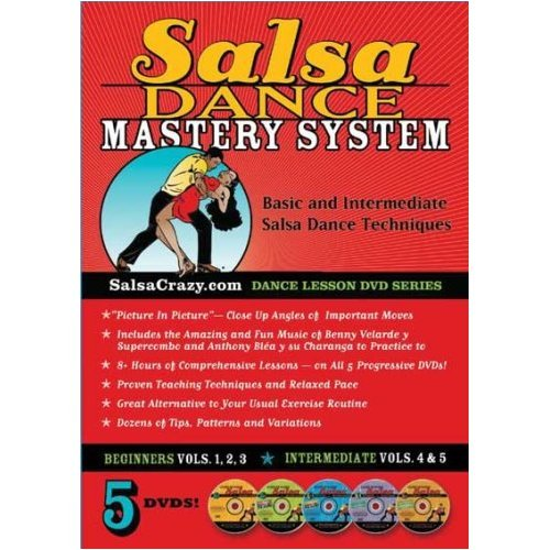 Latin Dances Dvd - Salsa Dancing Mastery System (Dance Lessons on 5 DVDs): The Complete Salsa Dance Mastery System, 5 DVD Package. Learn to Salsa Dance!