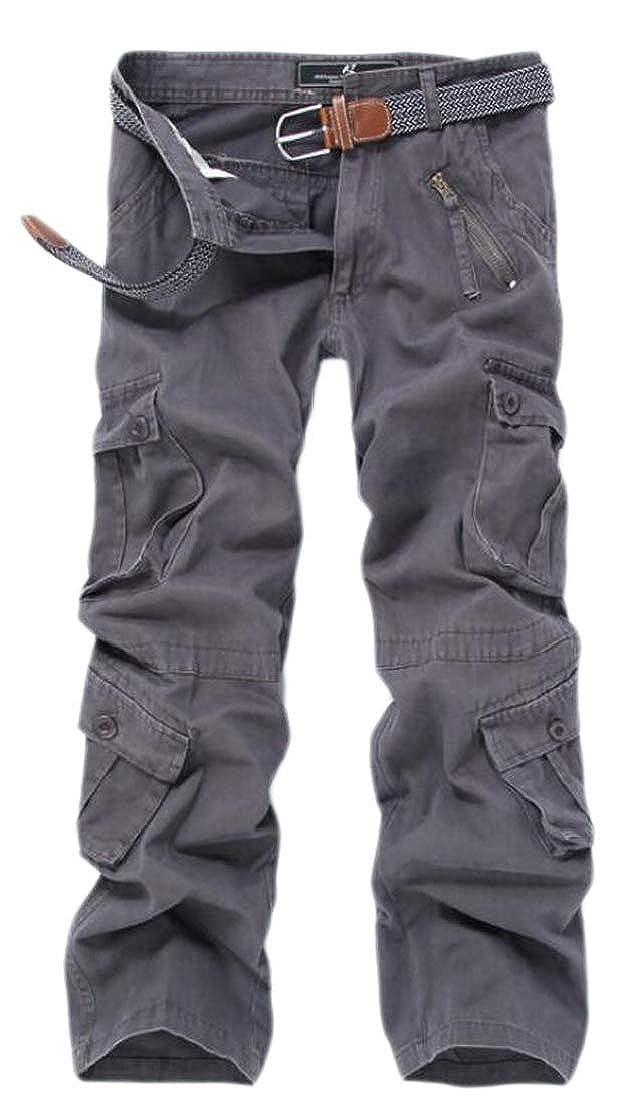Grey Grey Grey GenericMen Loose Multi Pockets Outdoors Military Cargo Pants Trousers 6dca70