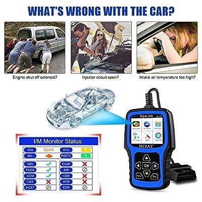 NEXAS NL101 OBD2 Scanner Check Engine Light Car Code Reader Automotive Diagnostic Tool Fault Code Scanner: Automotive